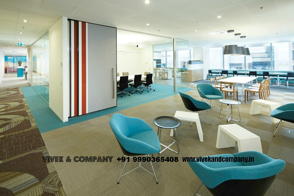 Fully furnished commercial office for rent near metro in for New office layout