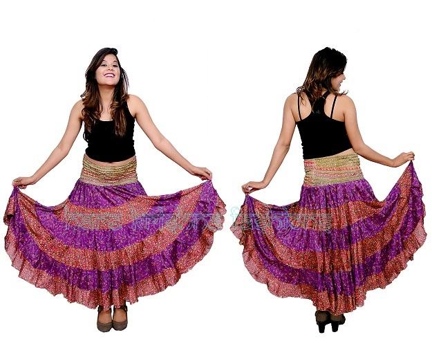 Silk 2 Colour Zara Skirt Cum Dress