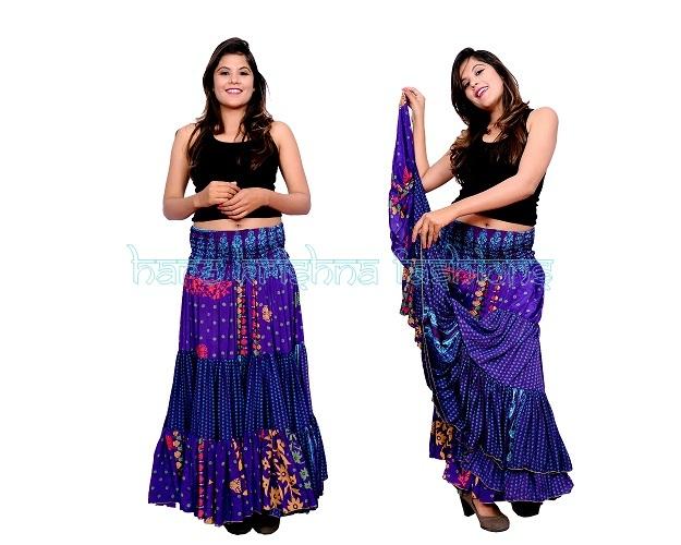 Silk Full Fril Skirt