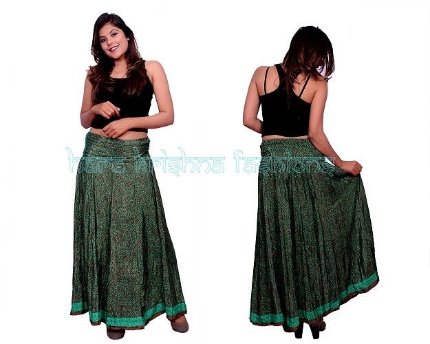 Silk V.P Panel Skirt