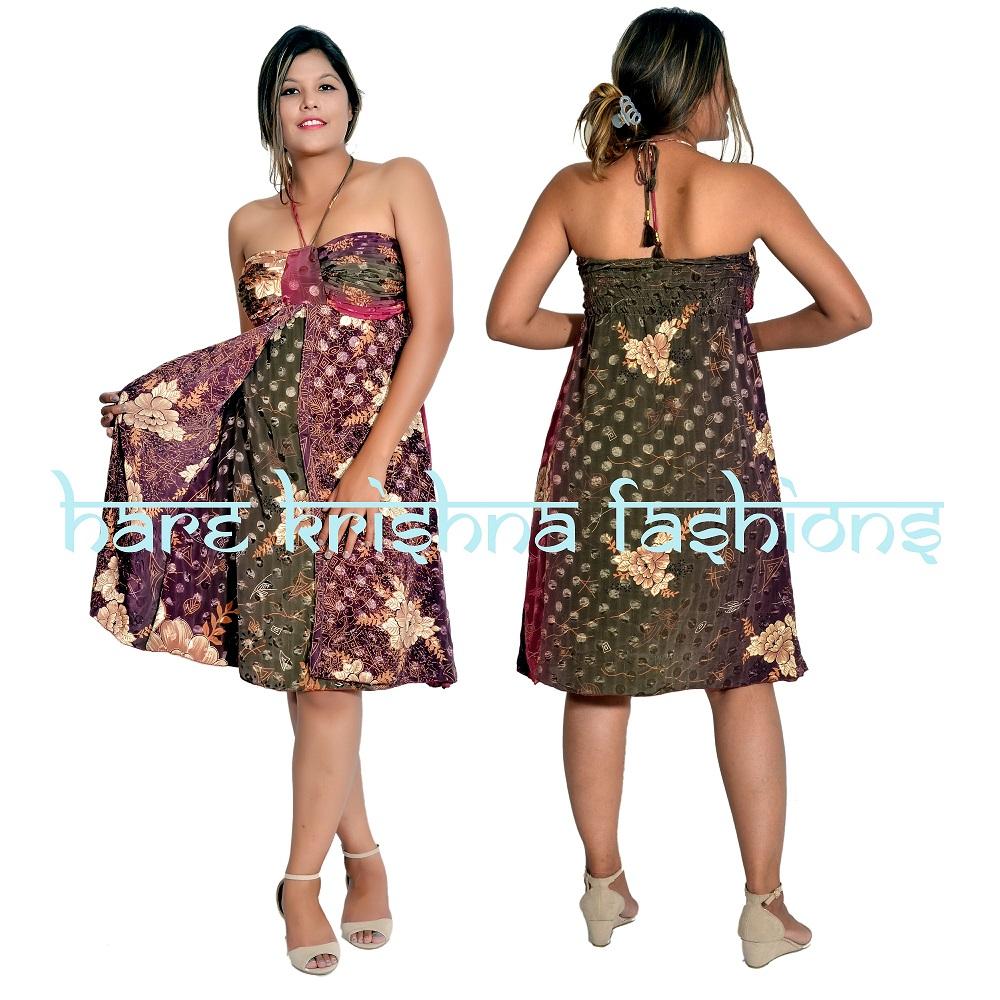 Silk Pintex Double Dress