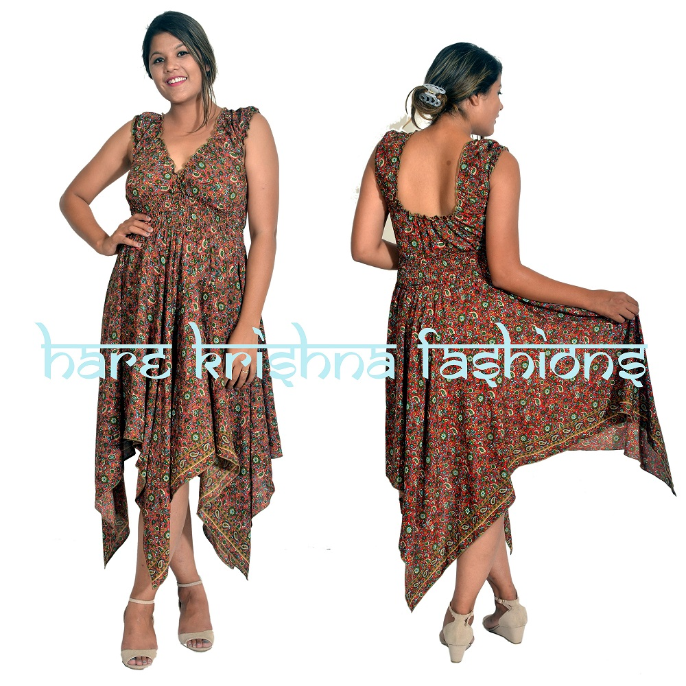 Silk Raber Choli Zig-Zag Dress