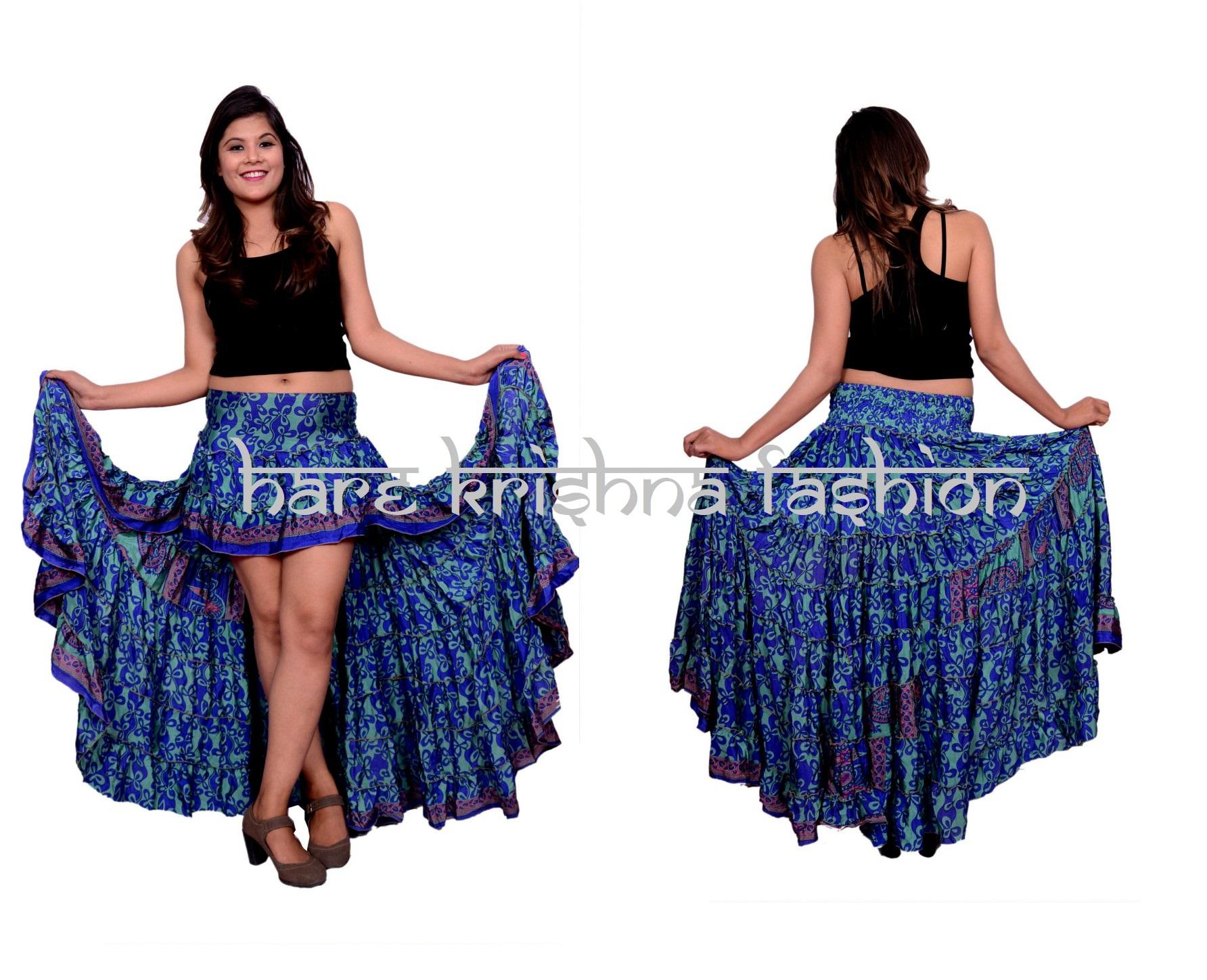 Silk Ibiza Short Long Skirt
