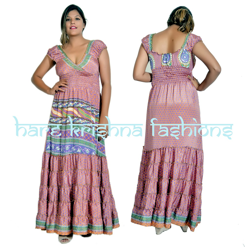 Silk Raber Choli Dress Vintage Silk