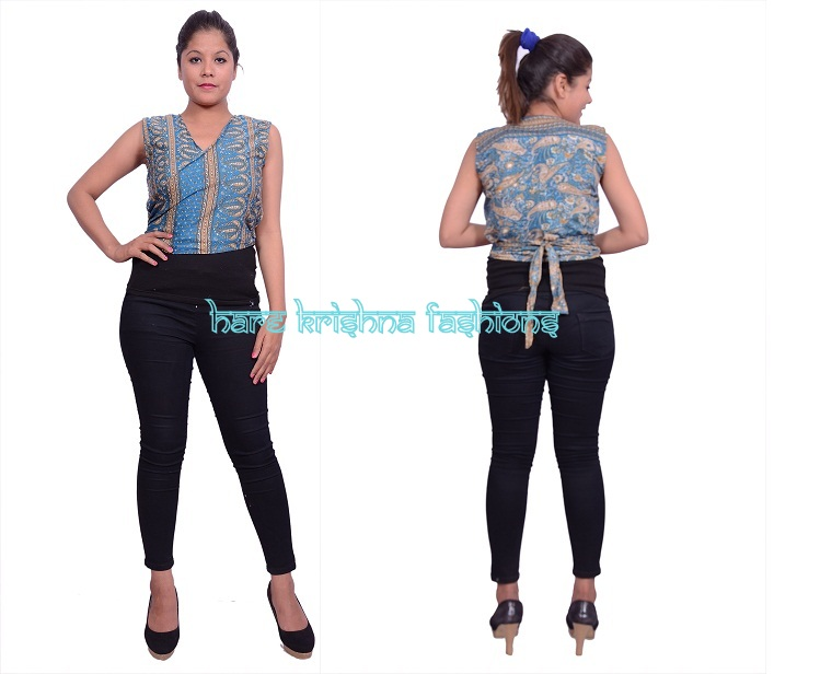 Silk Without Sleeve Tai Top