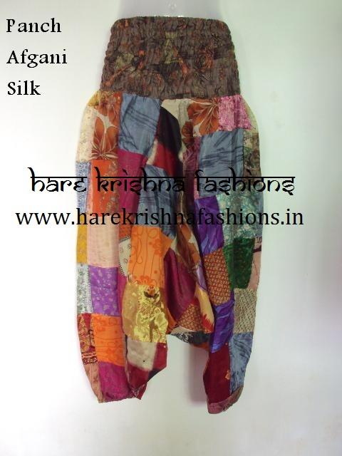 Silk Best Quality Panch Work Afgani Trouser
