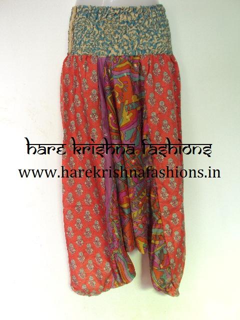 Silk Three Colour Afgani Trouser