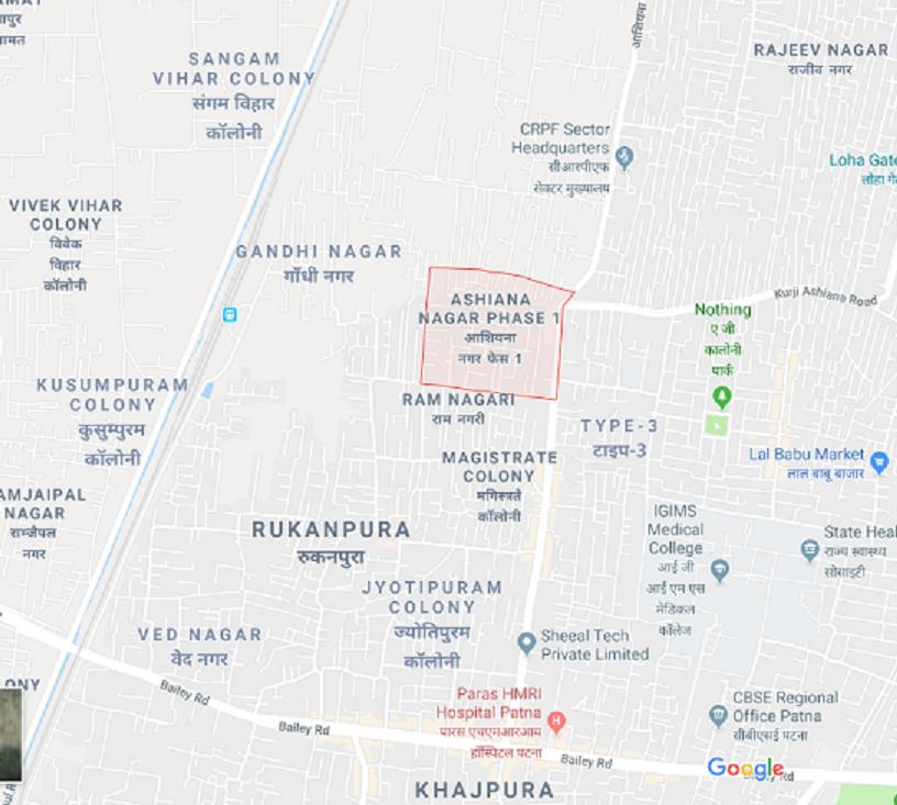 MAP OF ASHIANA NAGAR