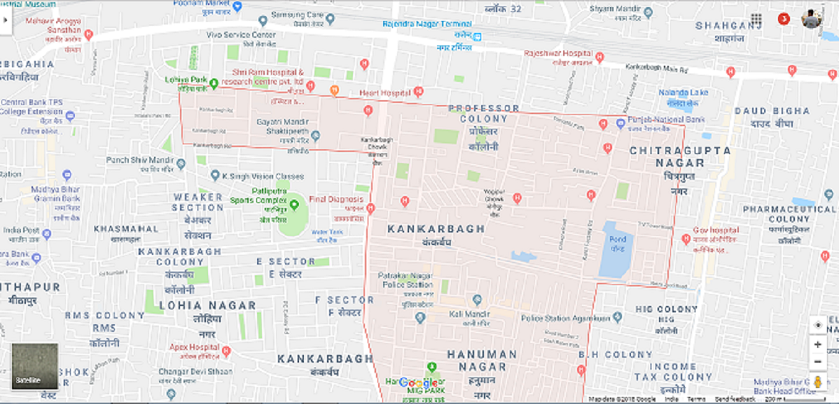 kankarbagh Map