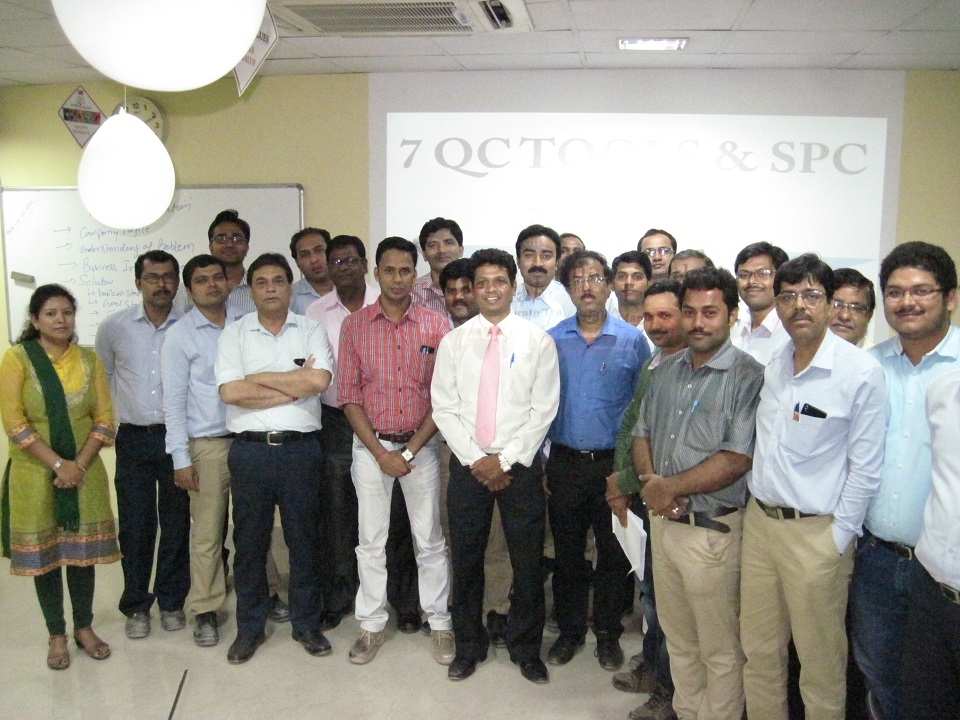 7 QC Tools and SPC Training workshop at Aditya Birla Insulators, Rishra,
