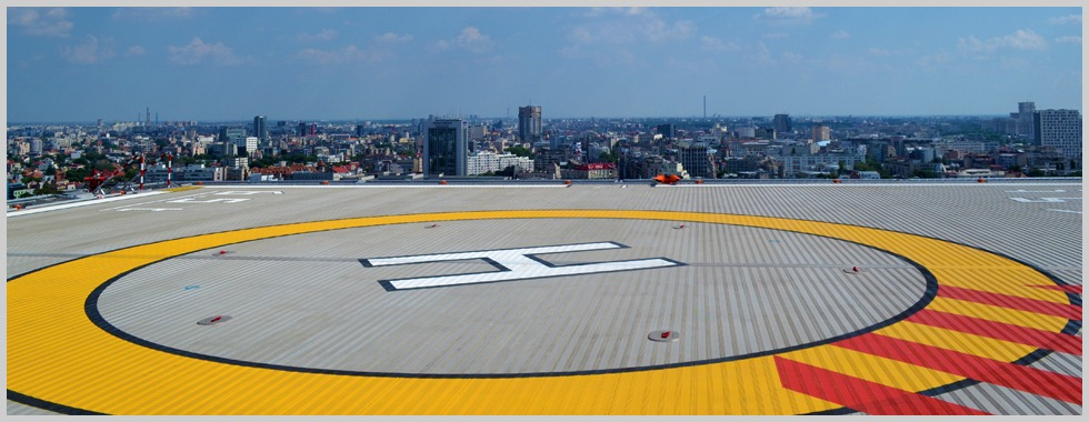 Rooftop helipad