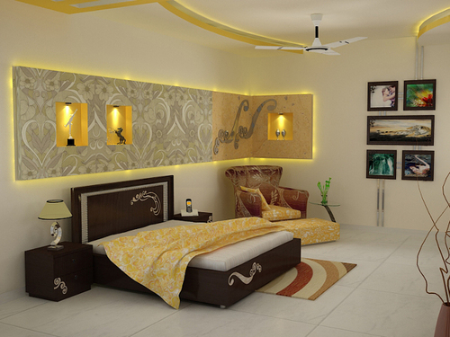 Home interior designers chennai interior designers in for Bedroom wallpaper designs india